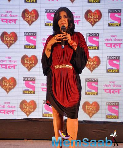 Ekta Kapoor Addresses The Media During The Launch Of New TV Series Yeh Dil Sun Raha Hai For Sony Pal