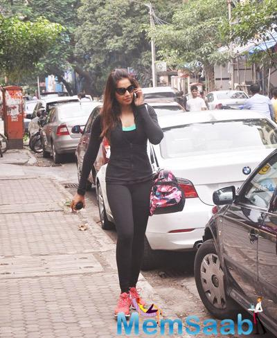 Bipasha Basu Clicked Outside The Gym In Mumbai After A Workout Session