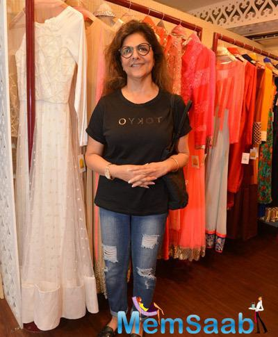 Pinky Roshan Sported A Casual Look During A Fashion Exhibit Hosted By DVAR