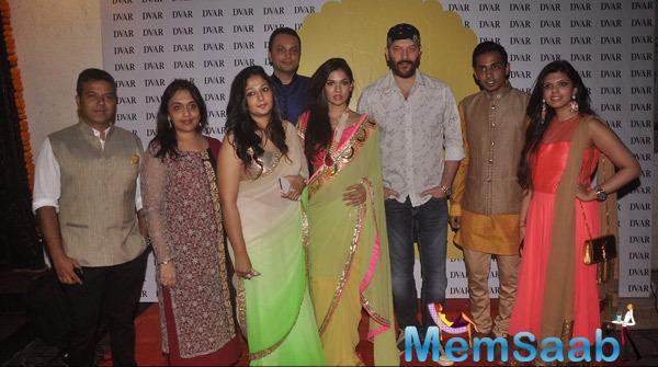 Sara Loren,Aditya Pancholi And Others Clicked At Ushma Vaidya Festive Collection By DVAR