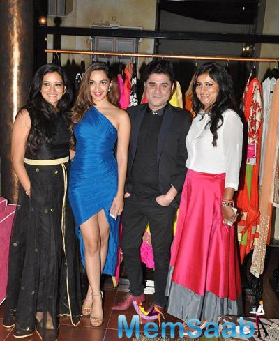 Kiara Advani Posed With Guests During The Store Launch Of Fabula Rasa