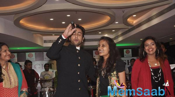 Adhyayan Suman Rocking Pose During The Annual Garba Celebration