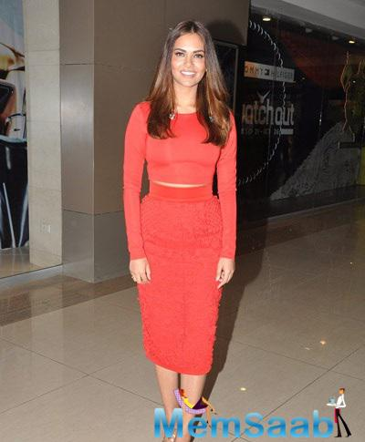 Esha Dressed In A Red Pencil Skirt And Crop Top At Hindu Bridal Mantra Launch