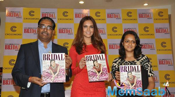 Esha Gupta During The Unveiling Of The Fifh Edition Of The Hindu Bridal Mantra Magazine