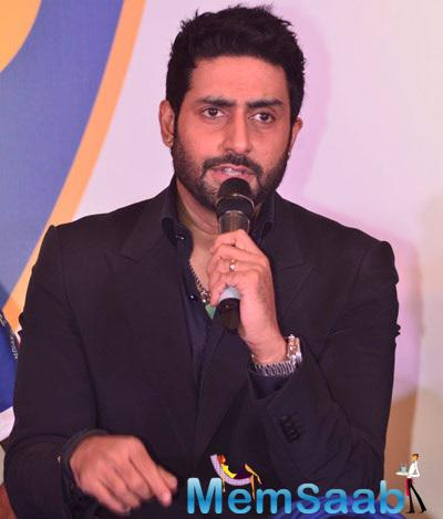 Abhishek Bachchan  Spokes During The ISL Team Chennaiyin FC Press Meet