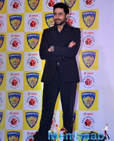 Abhishek Strike A Pose For Shutterbugs At ISL Team Chennaiyin FC Press Meet