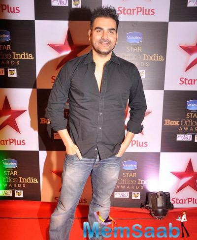 Arbaaz Khan Dazzling Look At Star Plus Box Office Awards 2014