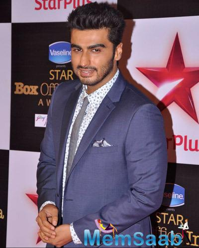 Arjun Kapoor Cool Look During Star Plus Box Office Awards 2014