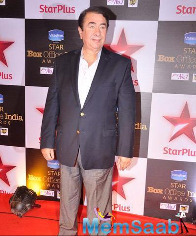 Randhir Kapoor Present At Star Plus Box Office Awards 2014