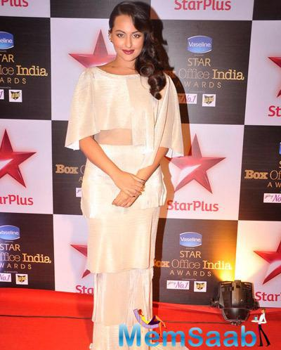Sonakshi Sinha Opted For A Tiered Shantanu And Nikhil Gown For The Event
