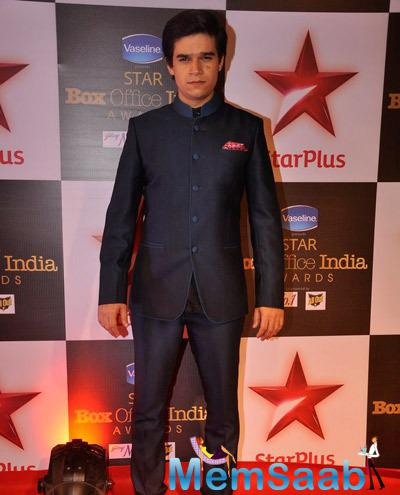 Vivaan Shah During Star Plus First Ever Star Box Office Awards 2014