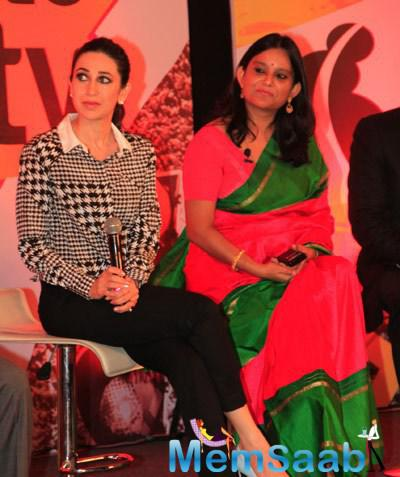 Karisma Kapoor During NDTV Road To Safety Campaign Press Meet