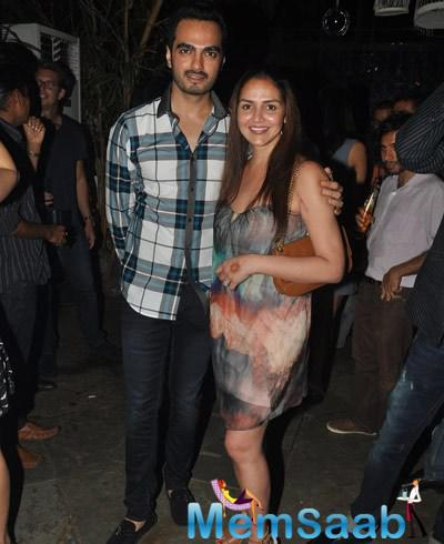 Esha With Her Hubby Attend Nido Bar Nights By Butter Event