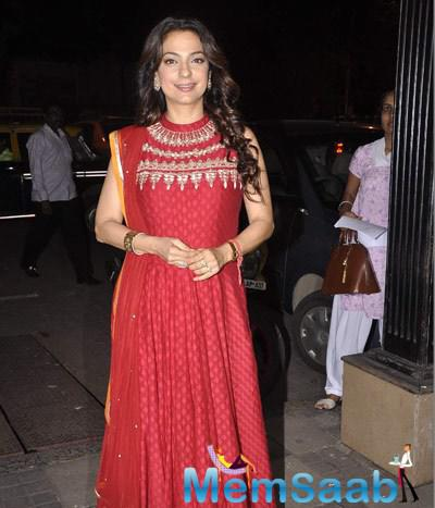 Juhi Chawla All Smiles At The Event