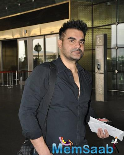 Arbaaz Khan Spotted At Mumbai International Airport