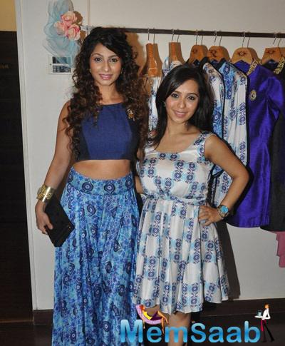 Shveta And Tanishaa Came To Support Designer Nisha Sainani For The Unveiling Of Her New Collection