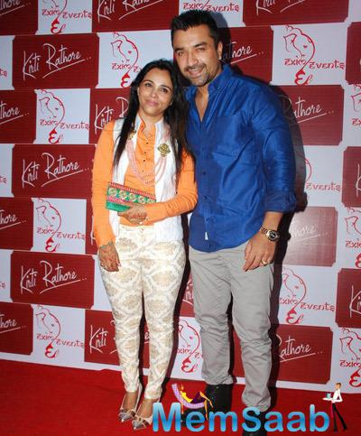 Kirti Rathore And Ajaz Khan At The Launch Of Designer Menswear Studio Launch