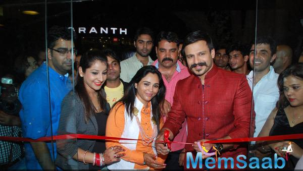 Vivek Oberoi Cuts The Ribbon To Unveils Kirti Rathore Designer Menswear Studio