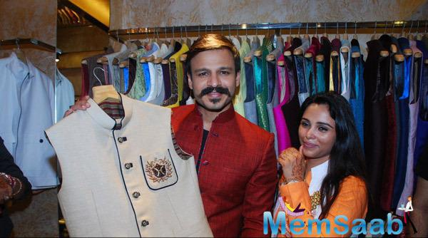 Vivek Oberoi At Kirti Rathore Designer Menswear Studio Launch