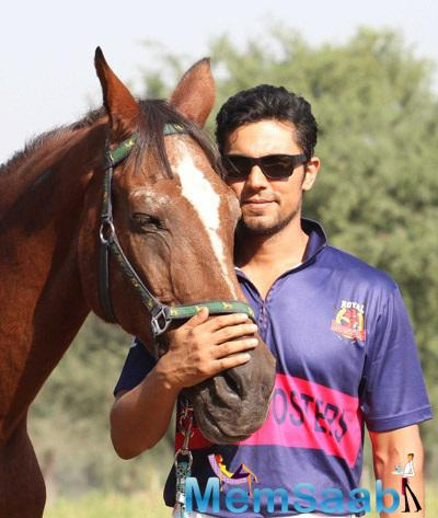 Randeep Hooda Strikes A Stunning Pose With Horse During The Launch Of Royal Roosters Polo