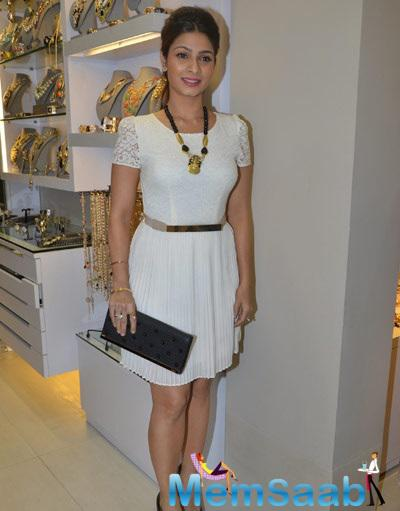 Tanishaa Pose During The Multi Designer Store Launch Minerali In Bandra West