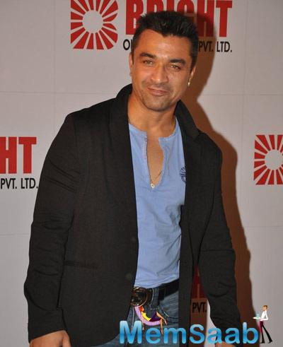 Ajaz Khan With Dashing Look Attended The Bright Advertising Party