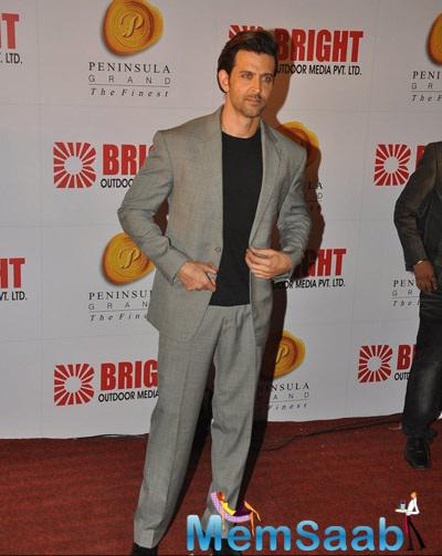 Hrithik Roshan At 34th Anniversary Party Of Bright Outdoor Advertising