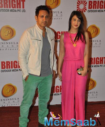 Parvin Dabas With Wife Preeti Jhangiani At Bright Advertising Party