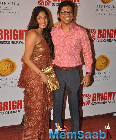 Singer Shaan With His Wife Radhika Mukherjee At Bright's 34th Anniversary Party