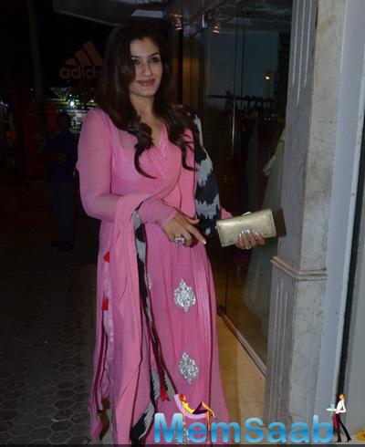 Raveena Tandon Attend The Opening Of Minerali Store
