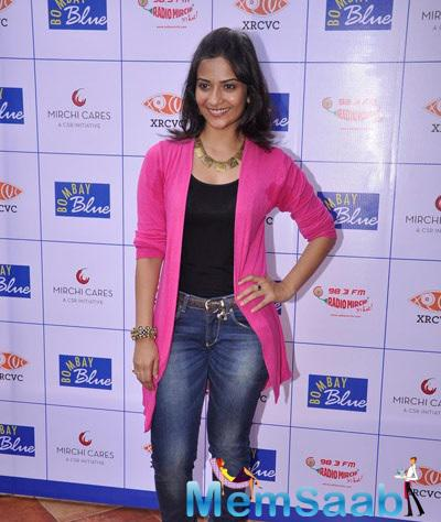 Aditi Sharma Snapped At The Launch Of India's First Braille And Audio Menu For The Blind