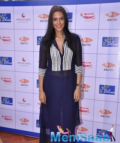 Neha Dhupia Launches India's First Braille And Audio Menu For The Blind