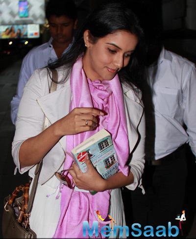 Asin Thottumkal Spotted At The Mumbai Airport On Thursday