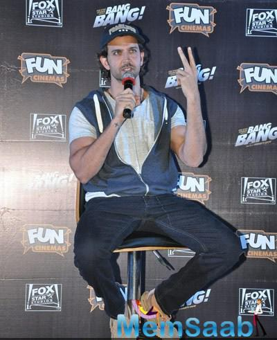 Hrithik Roshan Interact With Media During The Special Screening Of Bang Bang For Kids