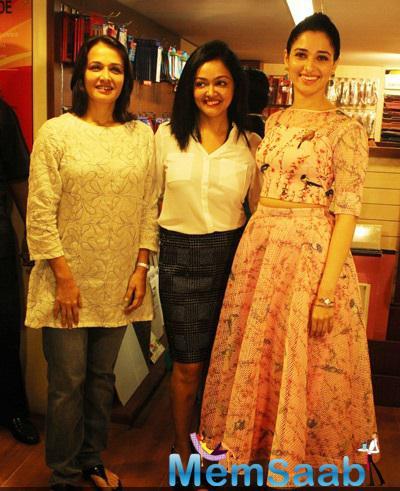 Tamannaah Bhatia And Amala Akkineni Posing For Shutterbug At The Book Launch