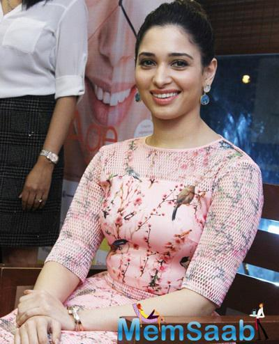 Tamannaah Bhatia Interacted With Media At The Book Launch