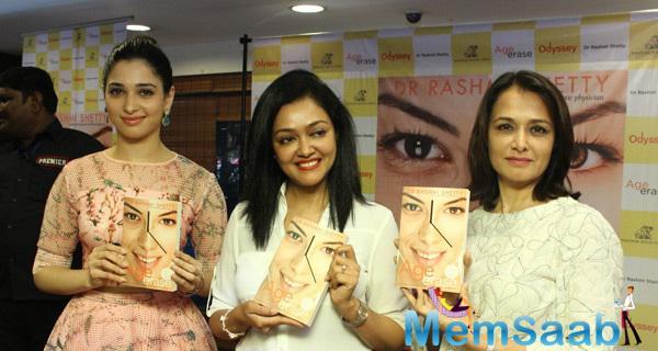 Tamannaah Bhatia Launches Dr.Rashmi Shetty's Age Erase Book