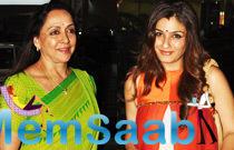 Hema Malini And Raveena Spotted At Mumbai Airport