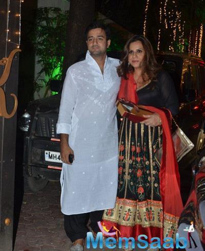Bollywood Celebs Graces The Shilpa Shetty's Diwali Bash