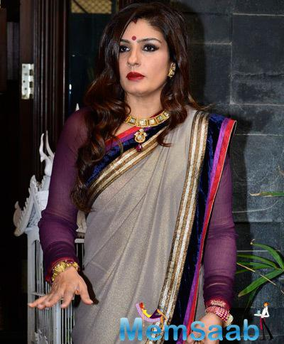Gorgeous Raveena Tandon Captured In Diwali Mood At Her Mumbai Residence
