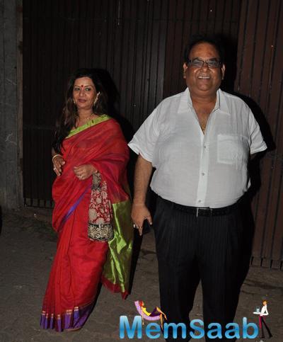Satish Kaushik Flashes Smile At A Private Diwali Bash