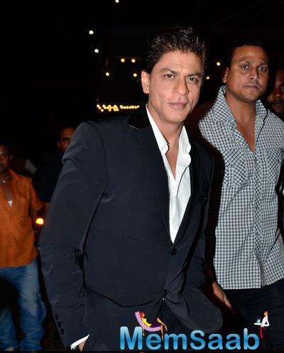 Bollywood King Khan Handsome Look At ABP Mazha Party