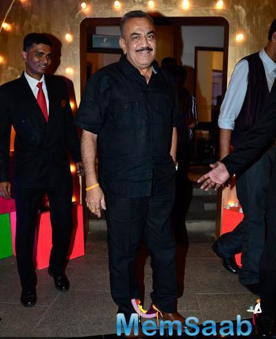 Shivaji Satam Smiling Look During ABP Mazha Party