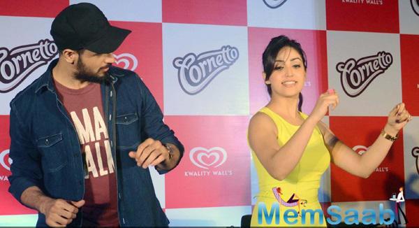 Sidharth And Yami At The Cornetto Event In Kolkata