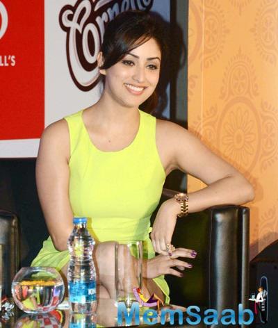 Yami Gautam Looks Stunning At The Cornetto Event In Kolkata