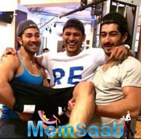 Varun Dhawan And Mohit Marwah Having Fun After Great Workout
