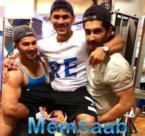 The Young Fame Of Bollywood Varun And Mohit Fun With Thier Trainer Prashant