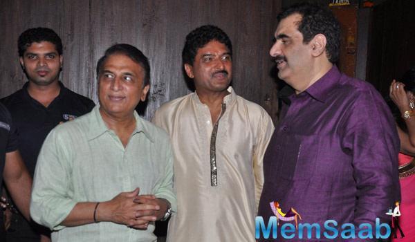 Sunil Gavaskar Attend The Vardan Aashirwad House Party