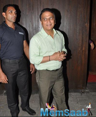 Sunil Gavaskar Snapped At Vardan Aashirwad House Party