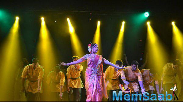 Hema Malini Performed On The Stage During The Launch Of Pune Festival 2014
